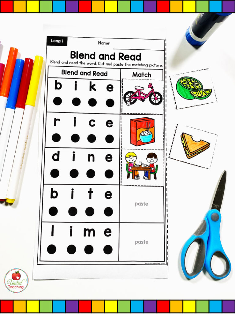 CVCE Blend and Read Worksheet