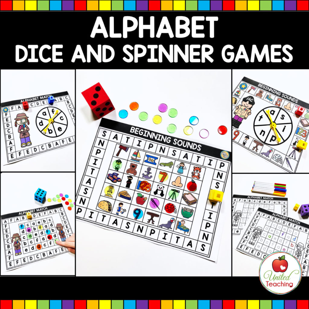 Alphabet Dice and Spinner Games Main Image