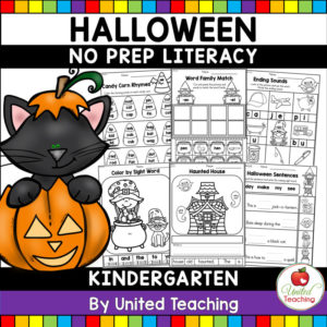 Halloween Literacy Activities K Cover