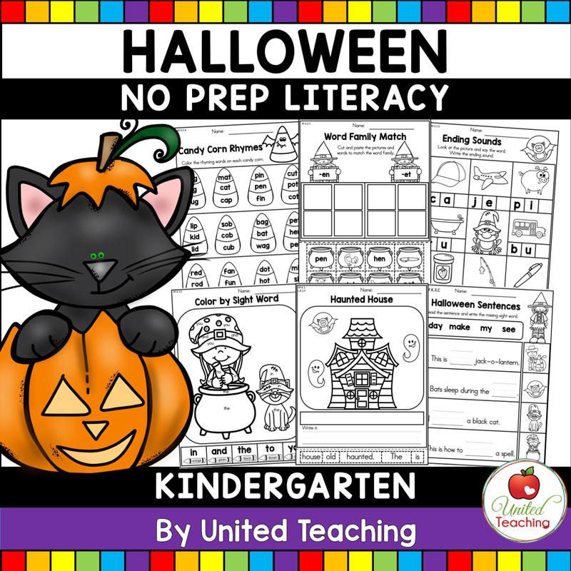 Halloween Literacy Activities K Cover