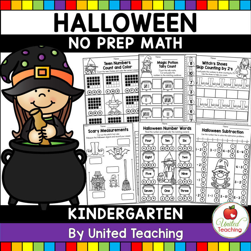 Halloween Math Activities (Kindergarten) - United Teaching