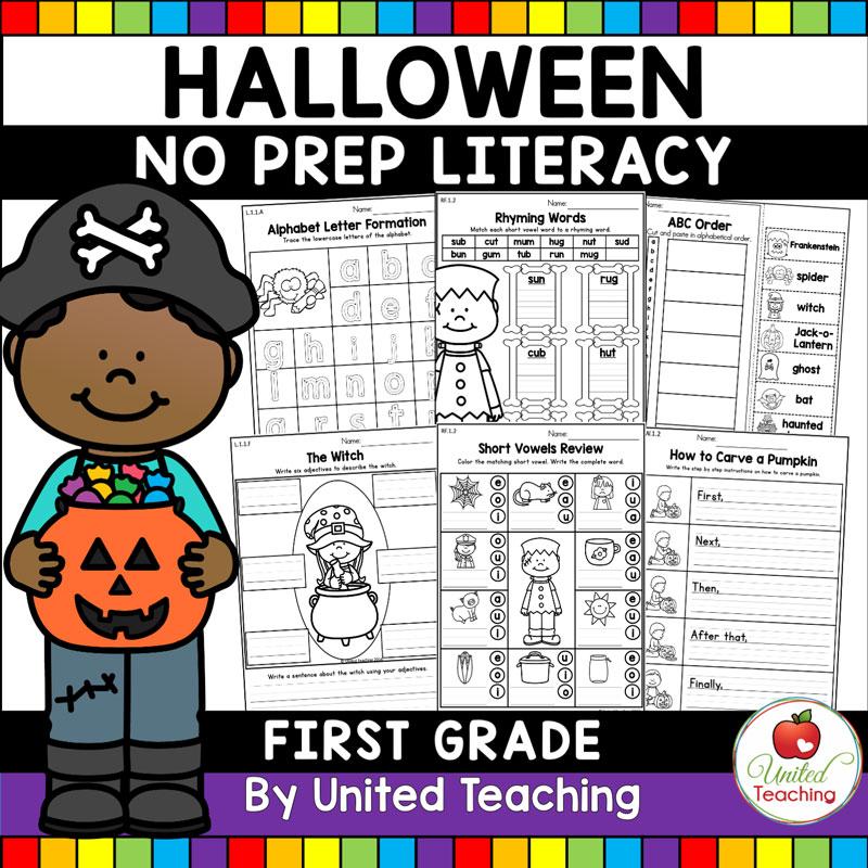 Halloween Literacy Activities (1st Grade) - United Teaching