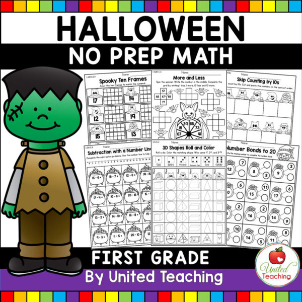 Halloween Math Activities 1st Cover