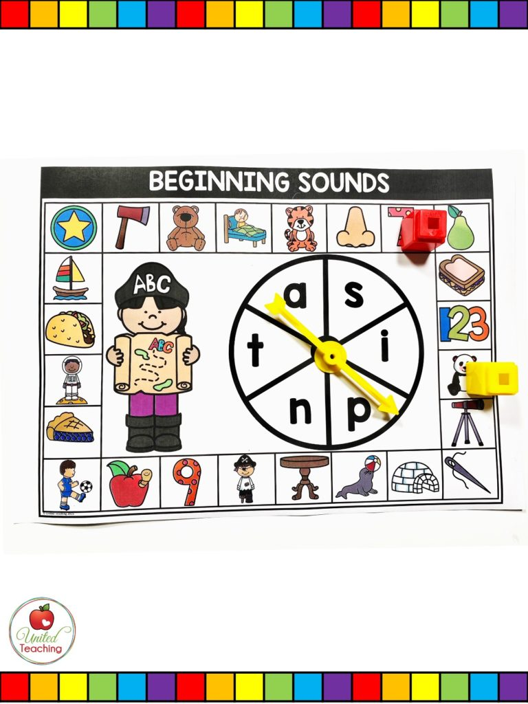 Beginning Sounds spinner game
