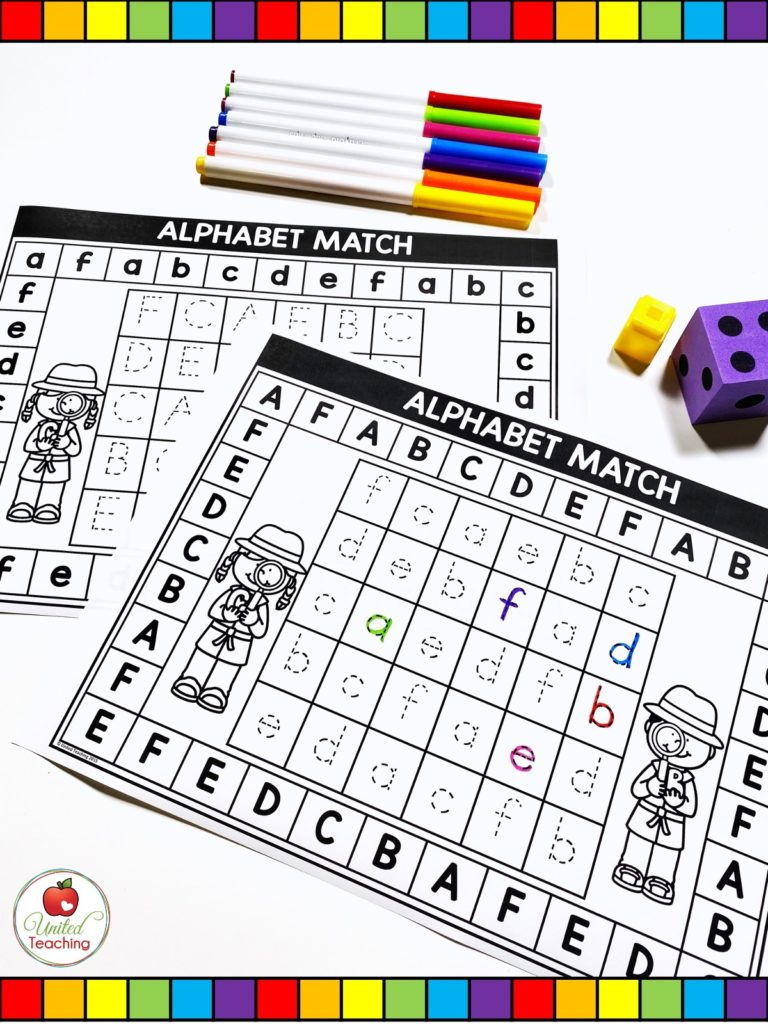 Alphabet uppercase and lowercase letter tracing games