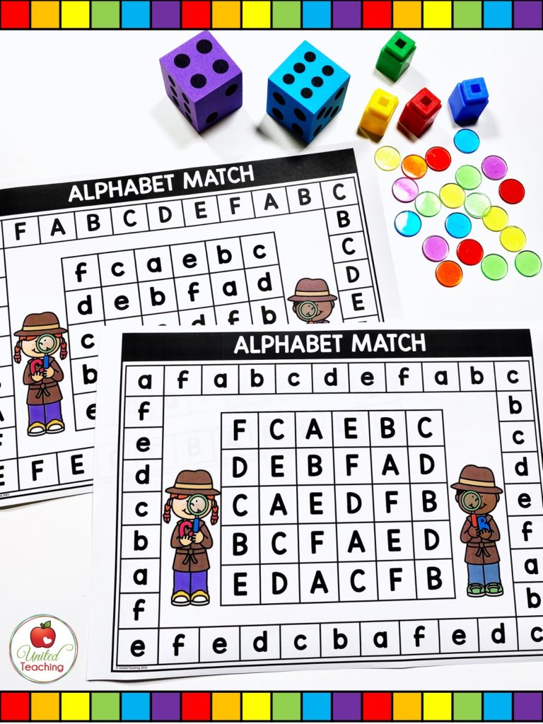 Alphabet uppercase and lowercase letter games