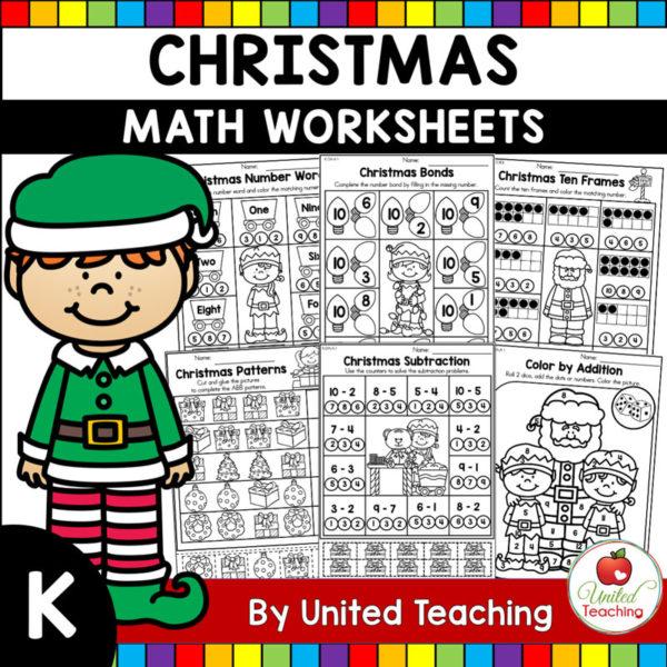 Christmas Math Worksheets K Cover