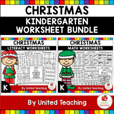 Christmas Math and Literacy Kindergarten Bundle