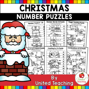 Christmas Math Puzzle Worksheets