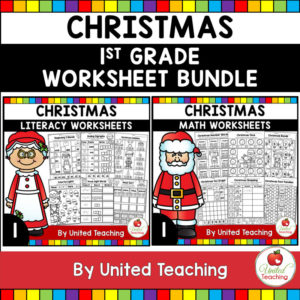 Christmas Math and Literacy Activities Bundle Cover