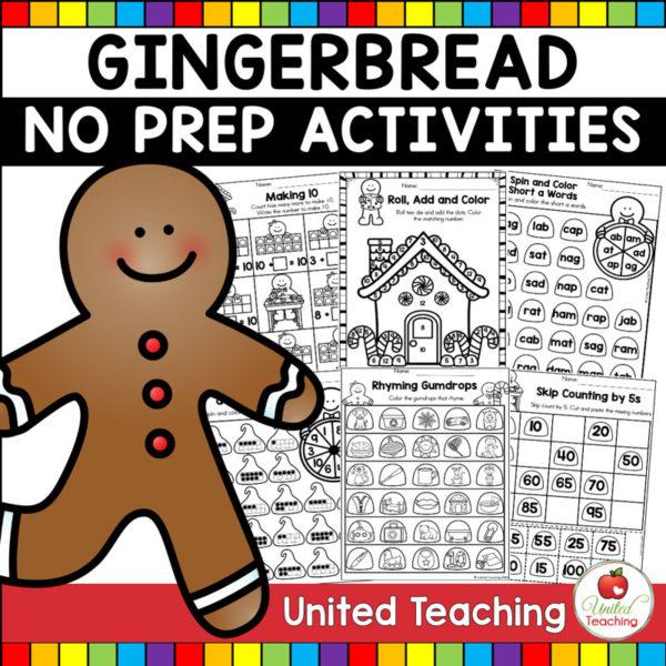 Gingerbread Man No Prep Activities Cover