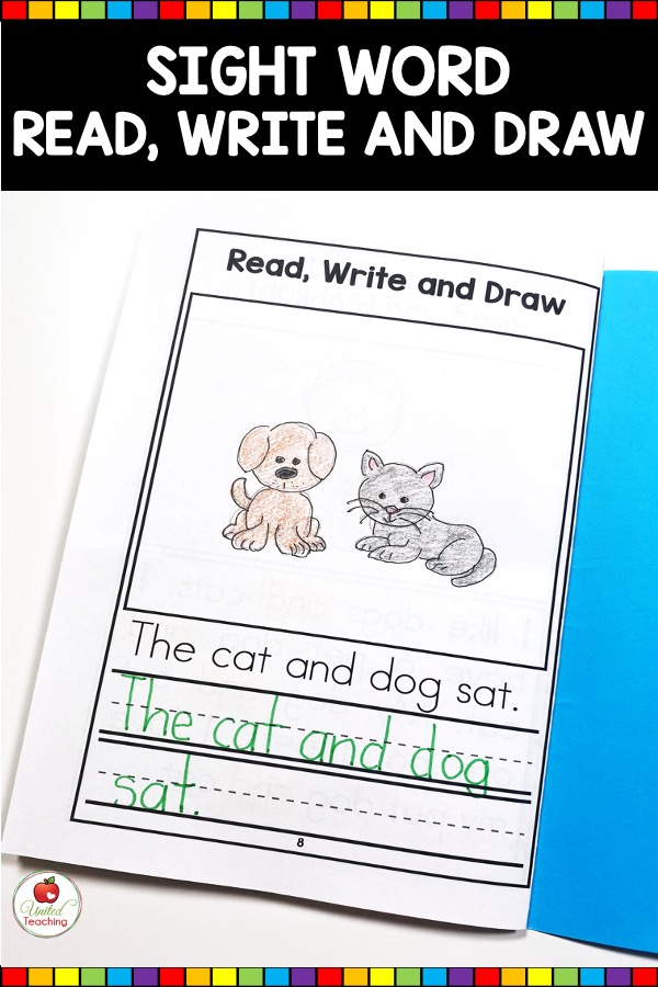 Sight Word Read, Write, and Draw Activity from Sight Word Activity Book
