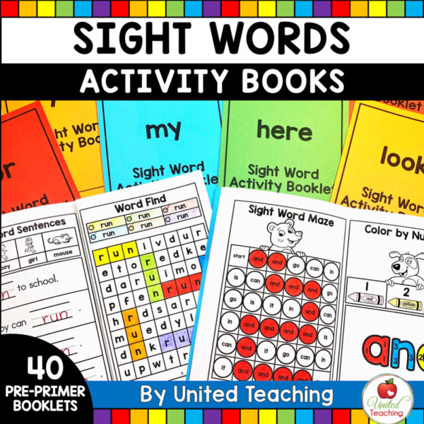 Sight Words Activity Books