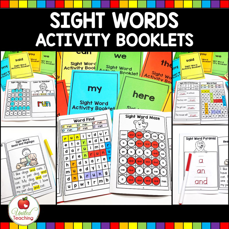 Sight Word Activity Books