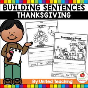 Thanksgiving Sentence Building Cover