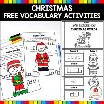 FREE Christmas Vocabulary Activities