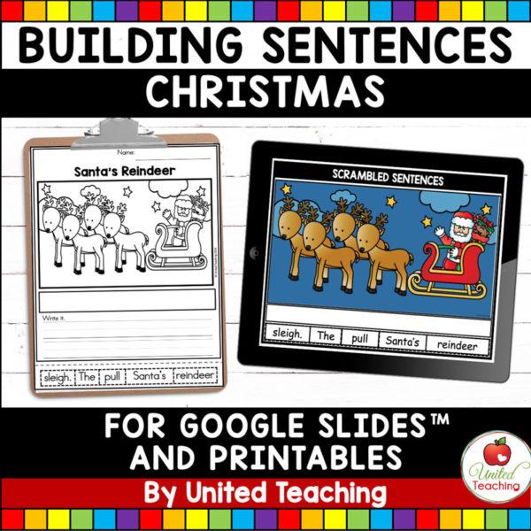 Sentence Scrambles Christmas