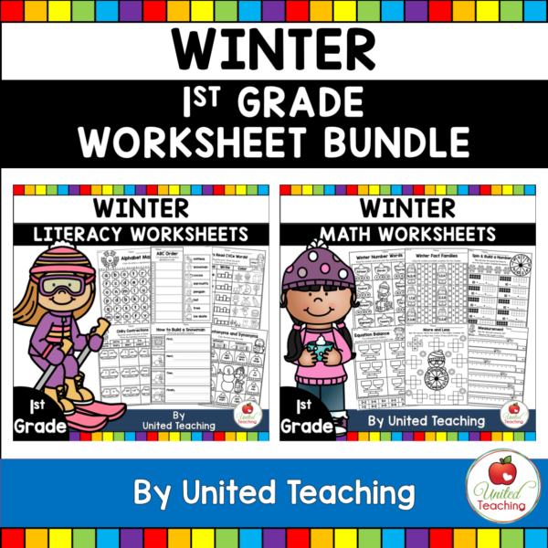Winter Math and Literacy Activities for 1st Grade