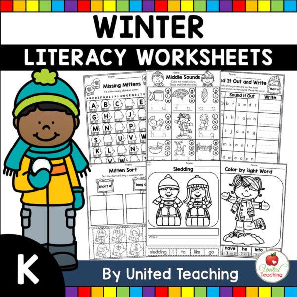 Winter Literacy Activities K Cover