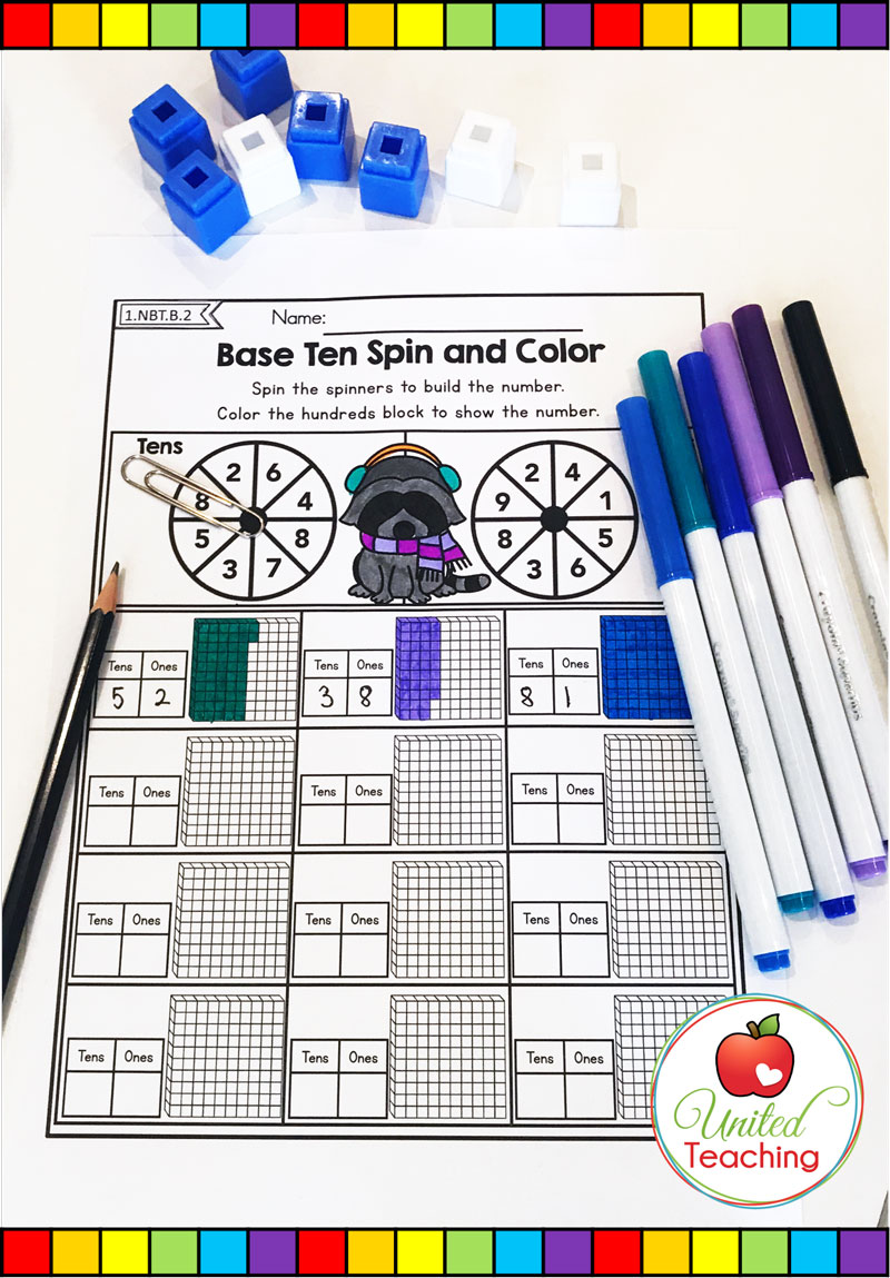 Place Value Spin and Color