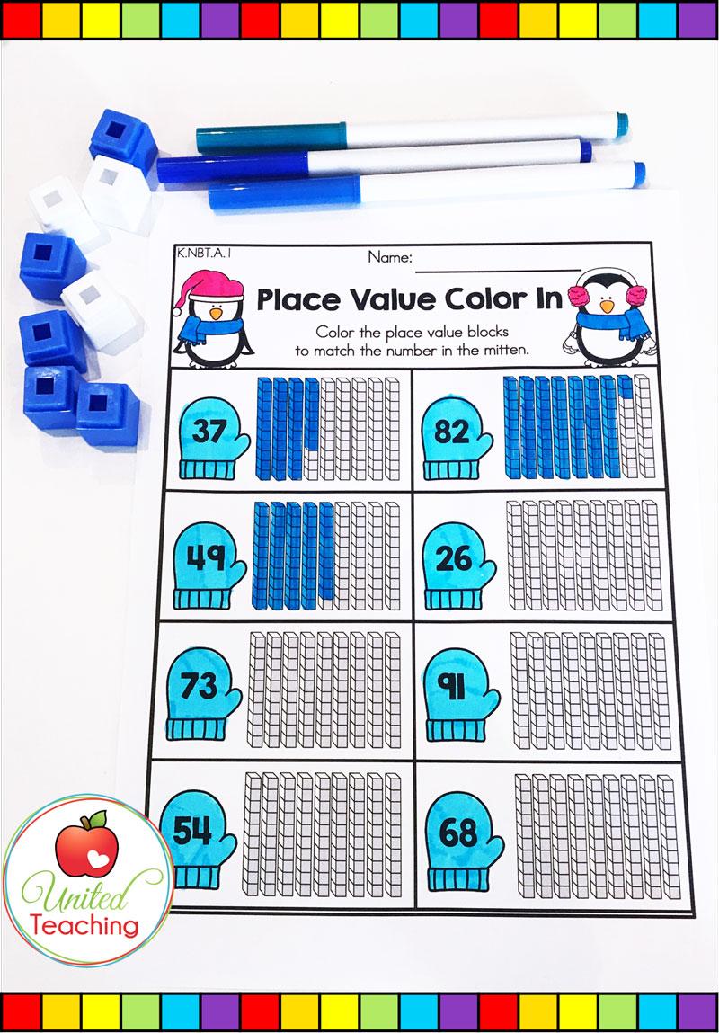 Place Value Math Worksheet