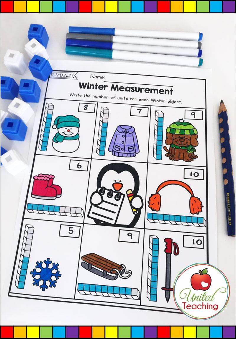Winter Measurement Worksheet