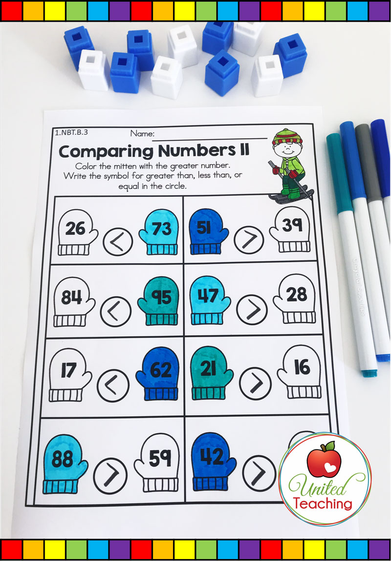 Comparing Numbers to 100