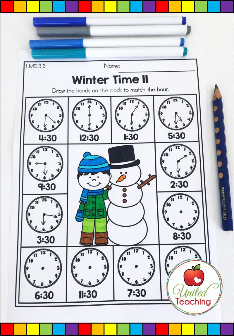 Telling Time Math Worksheet