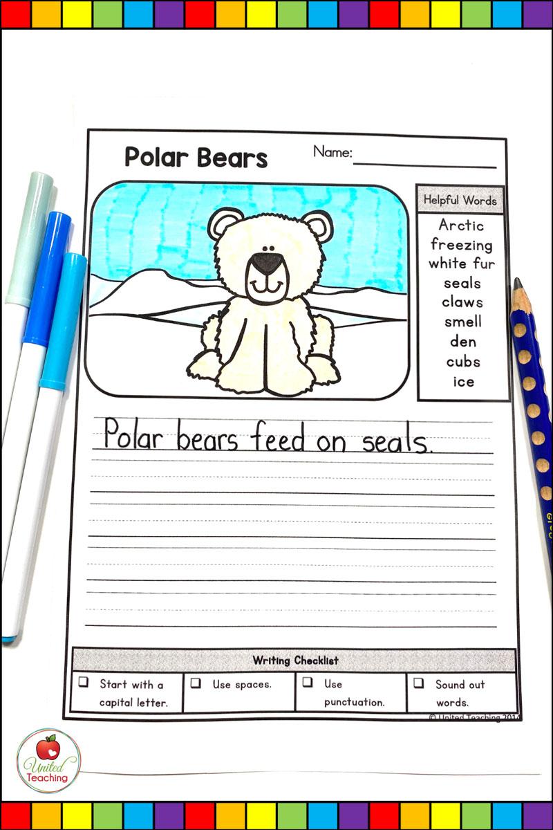 Polar Animals Writing Prompts