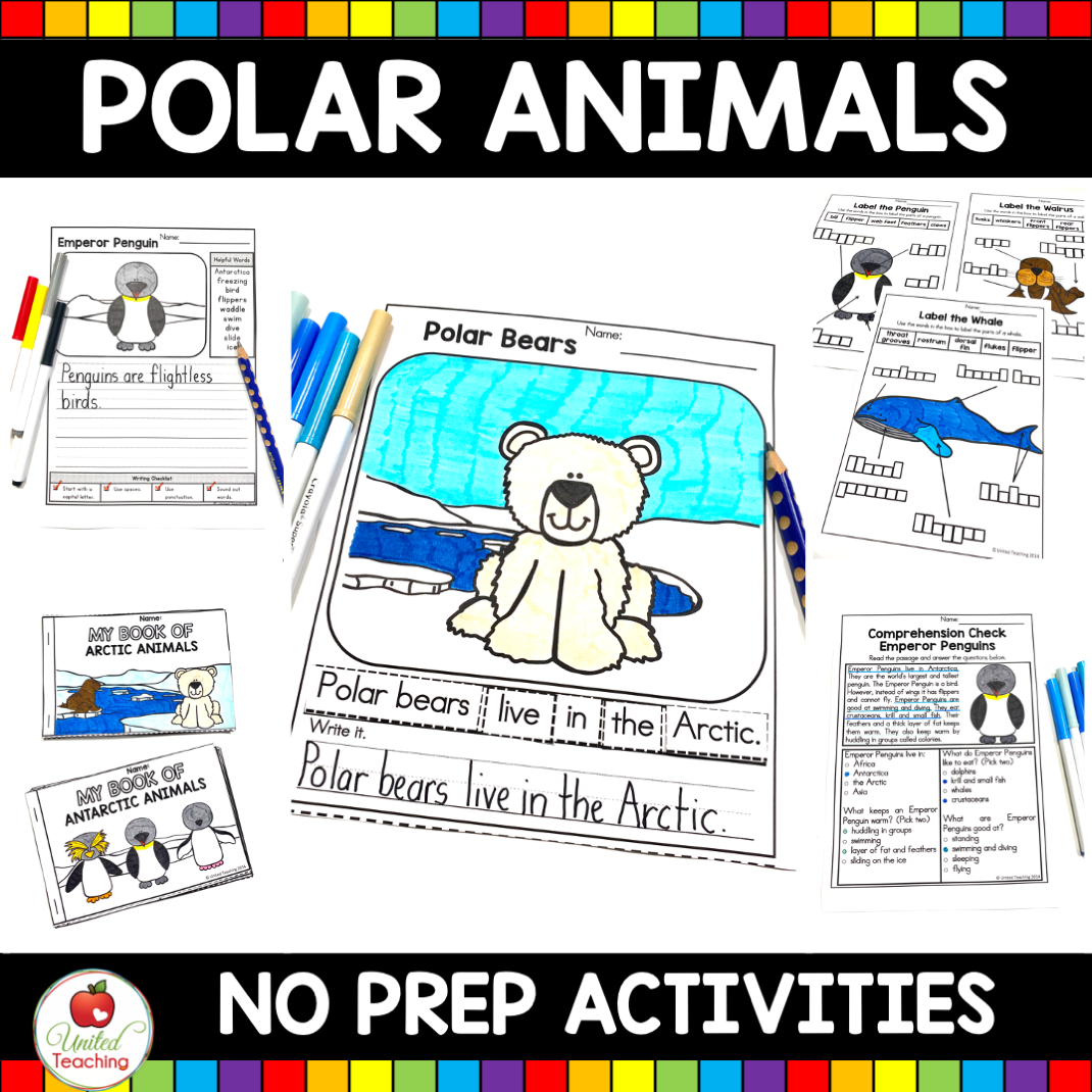 Polar Animals No Prep Activities