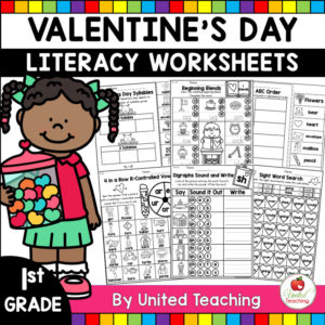 Valentine's Day Literacy Activities for 1st Grade