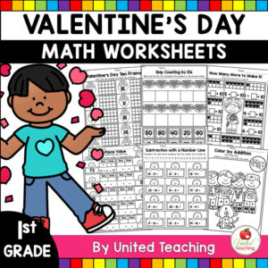 Valentine's Day Math Activities for 1st Grade