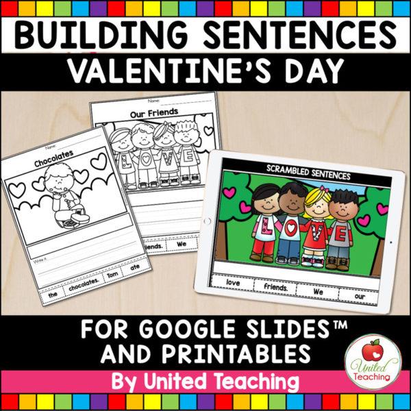 Valentine's Day Sentence Building