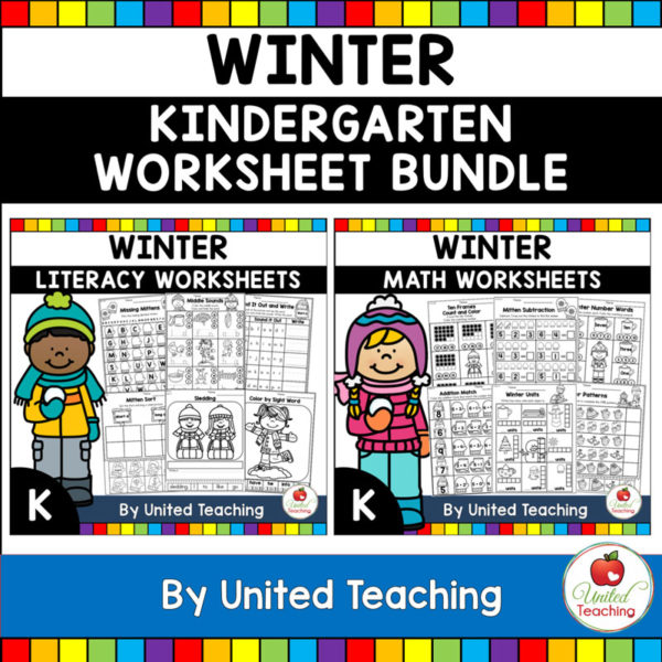 Winter Math and Literacy Activities for Kindergarten