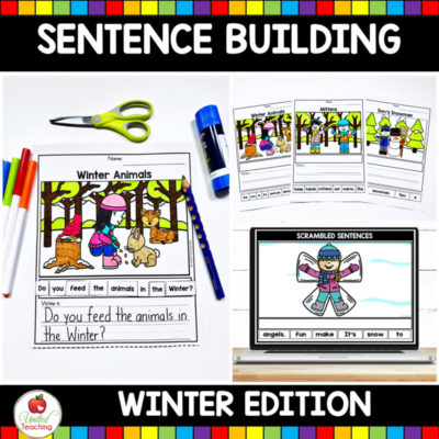 Winter Sentence Building Activities