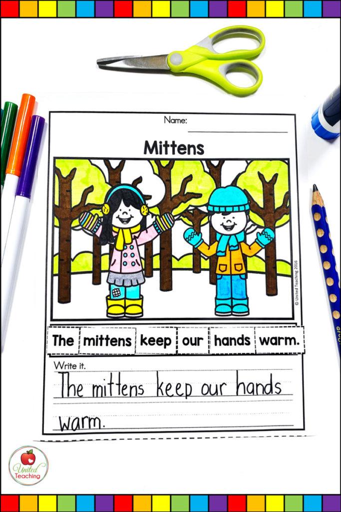 Winter Sentence Building Activities