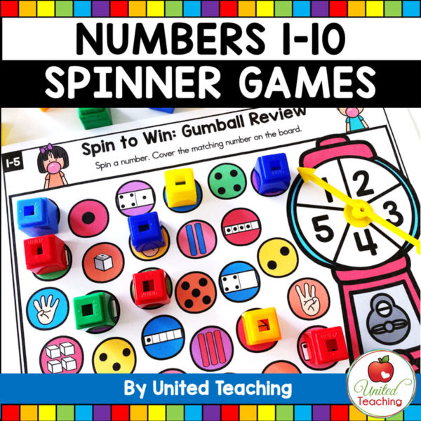 Numbers 1-10 Spinner Math Games