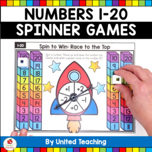 Numbers 1-20 Spinner Math Games