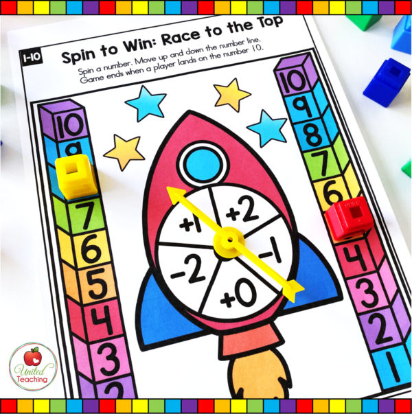 Numbers 1-10 Spinner Math Game