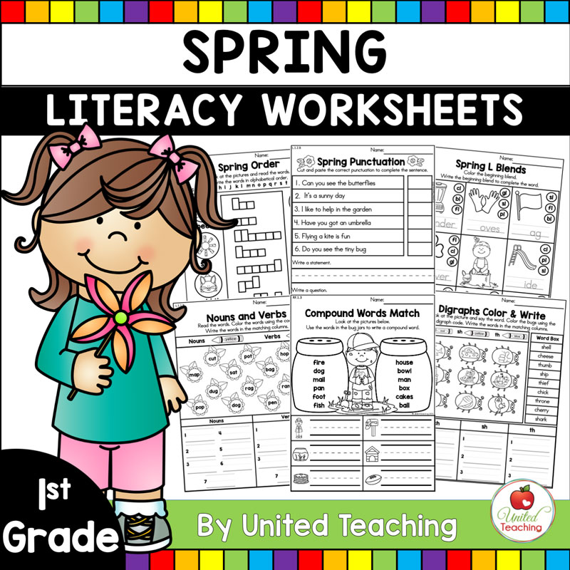 Spring Literacy Activities (1st Grade) - United Teaching