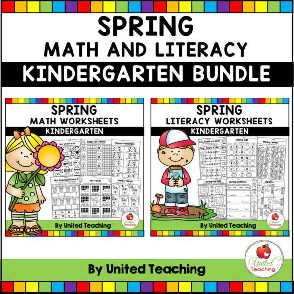Spring Math and Literacy Activities for Kindergarten