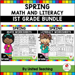 Spring Math and Literacy Activities for 1st Grade