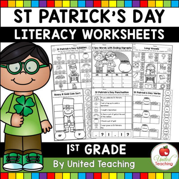 St. Patrick's Day Literacy Activities for 1st Grade
