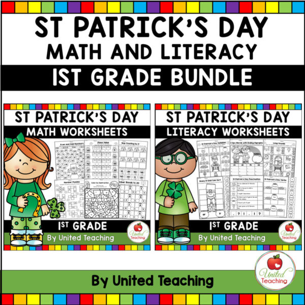 St. Patrick's Day Math and Literacy Activities for 1st Grade