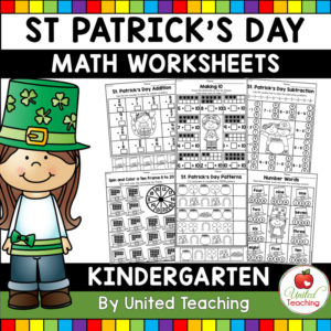 St Patrick's Day Math Activities for Kindergarten