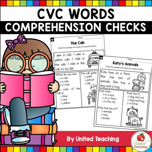 CVC Words Comprehension Checks