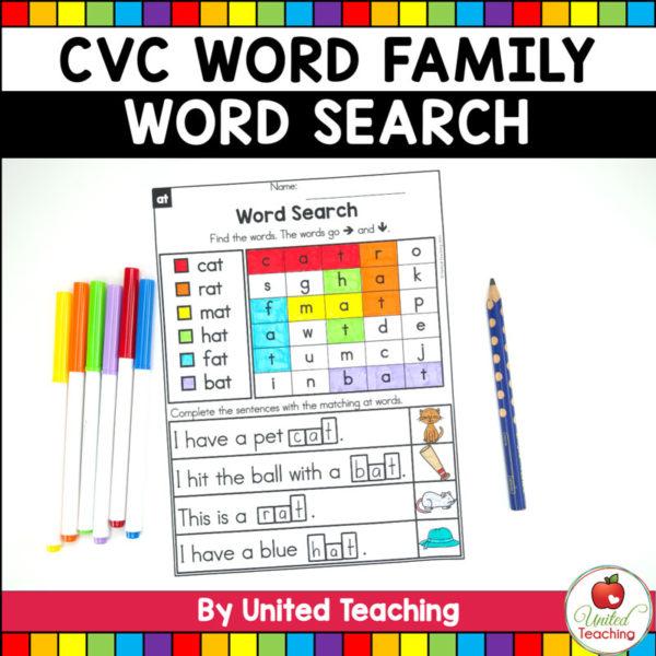 CVC Words Word Search