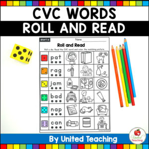 CVC Words Roll and Read