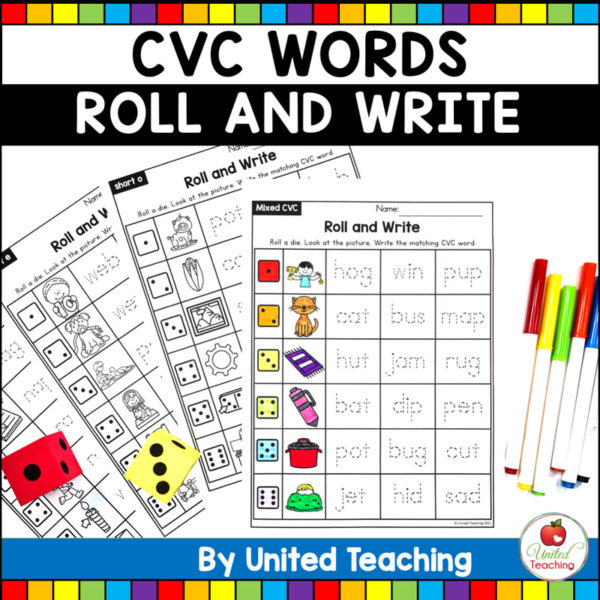 CVC Words Roll and Write
