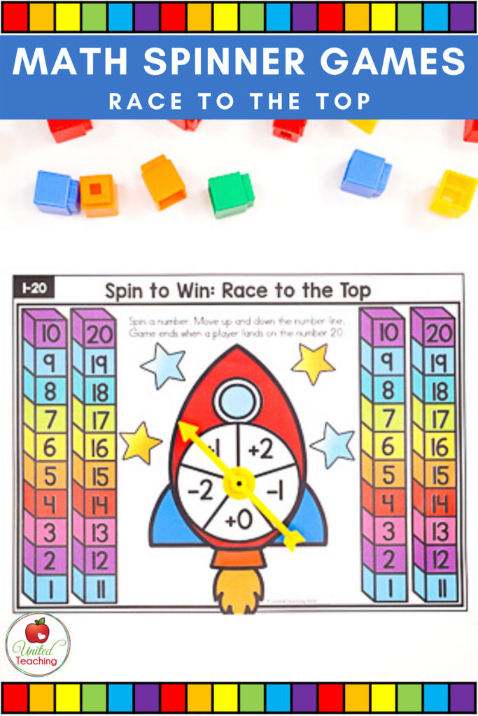 Math Spinner Game Race to the Top